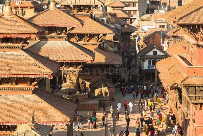 Взгляд квадрата Patan Durbar стоковые фотографии rf