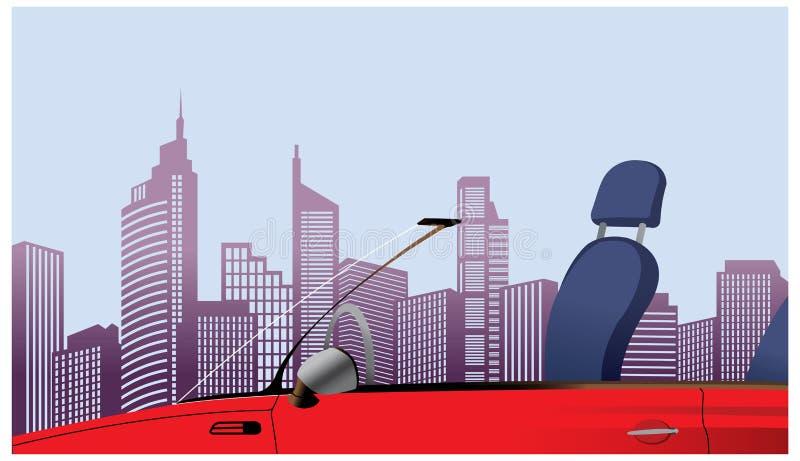 Взгляд конца-вверх автомобиля иллюстрация штока