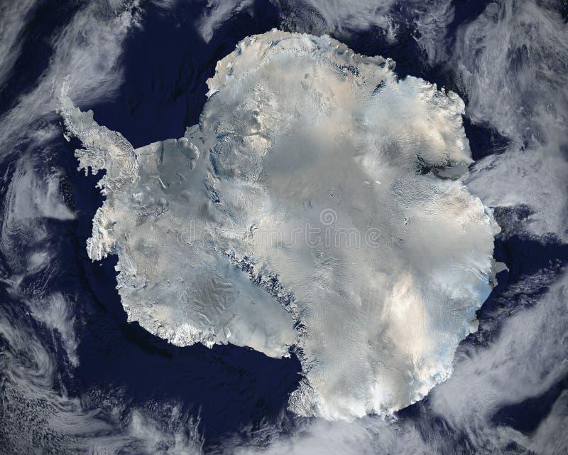 Взгляд космоса Антарктики спутниковый, Азия стоковая фотография rf