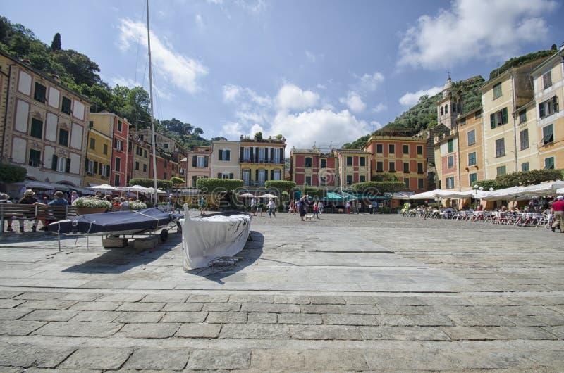 Взгляд красочных зданий Portofino стоковые фото