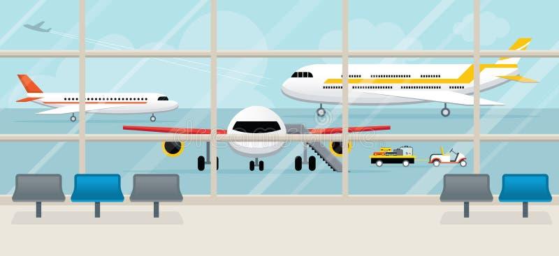Взгляд крупного аэропорта снаружи бесплатная иллюстрация