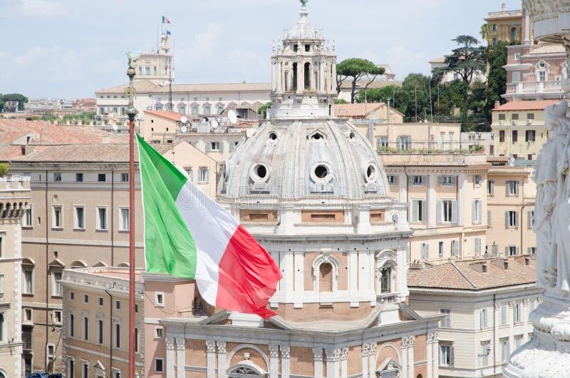 Взгляд крыш Roma стоковое изображение