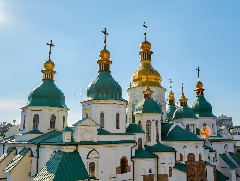 Взгляд к собору St Софии Kyiv, Украин стоковая фотография