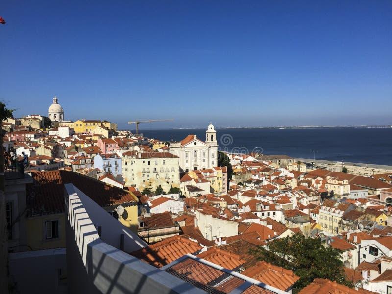 Взгляд Лиссабона, Португалии стоковые изображения rf