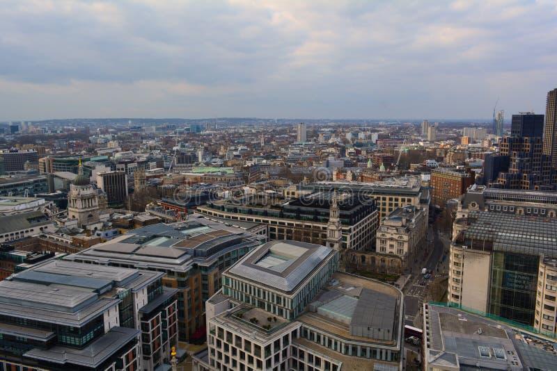 Взгляд Лондона панорамный, Великобритания стоковые фото