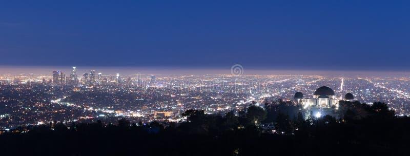 Взгляд Лос-Анджелеса от Hollywood Hills стоковое фото
