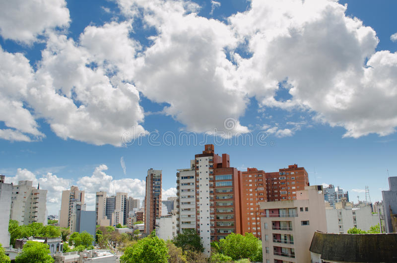 Взгляд малого города стоковое фото