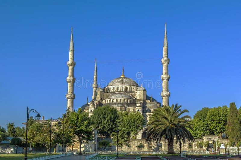 Взгляд мечети Ahmed султана, Стамбула стоковое фото rf