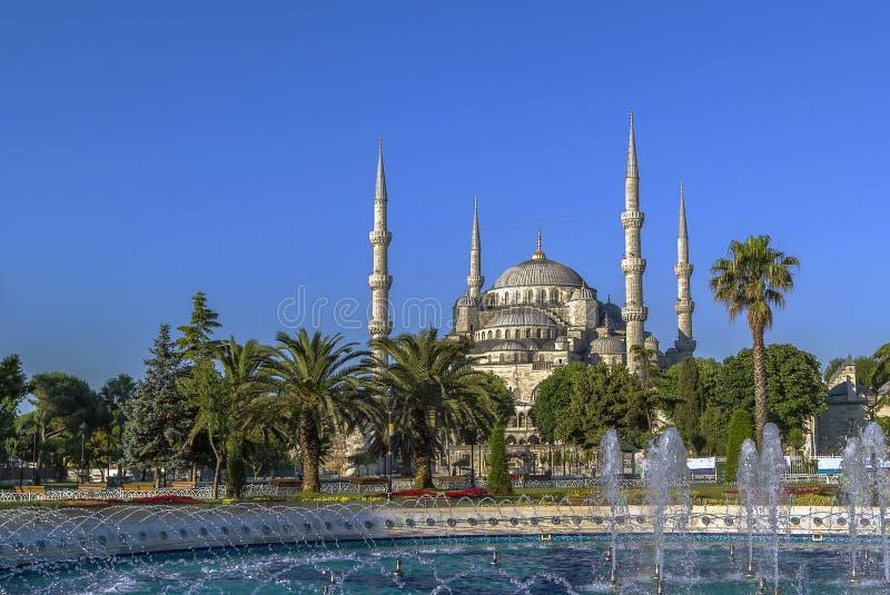 Взгляд мечети Ahmed султана, Стамбула стоковое изображение rf