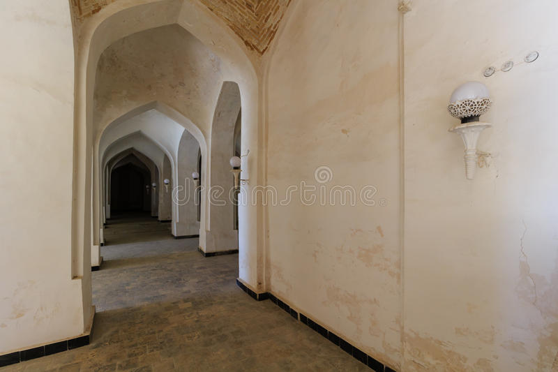 Взгляд мечети Kolon, Бухары, Узбекистана стоковые изображения rf