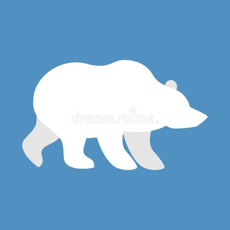 взгляд медведя приполюсный Северный полюс дикого животного Зверь арктики и Antarcti бесплатная иллюстрация