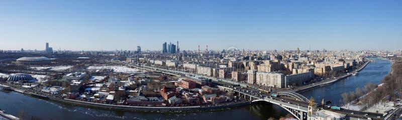 Взгляд Москвы панорамный стоковая фотография
