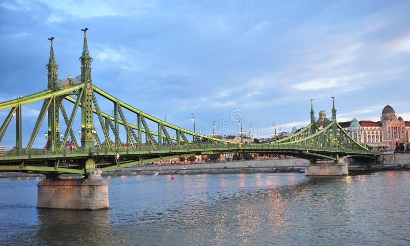 Взгляд моста свободы в Будапеште, Венгрии стоковая фотография rf