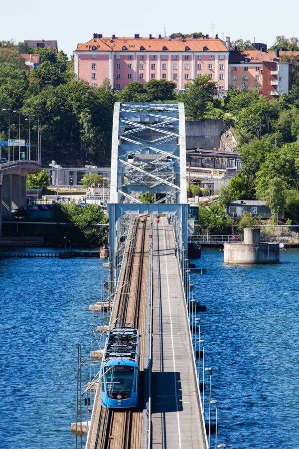 Взгляд моста Lidingo Стокгольма стоковые фотографии rf