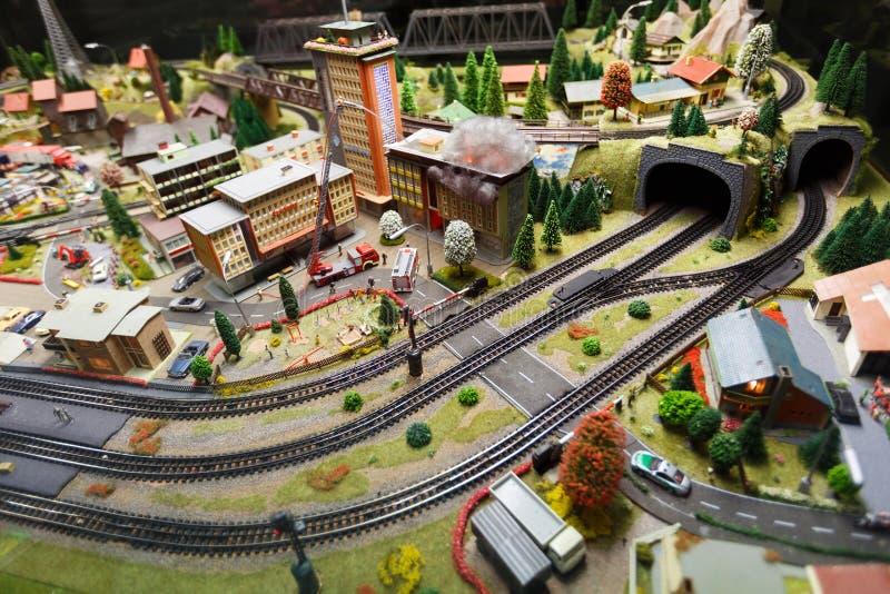 Взгляд модельной железной дороги в Дрездене стоковое фото rf
