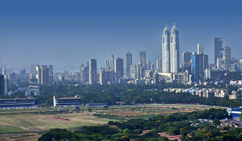 Взгляд Мумбая повышенный горизонтом стоковое изображение rf