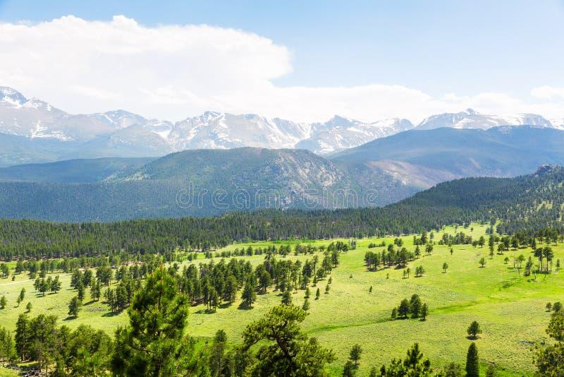 Взгляд национального парка скалистой горы панорамный стоковые изображения rf