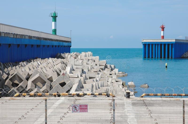 Взгляд на гавани стоковая фотография