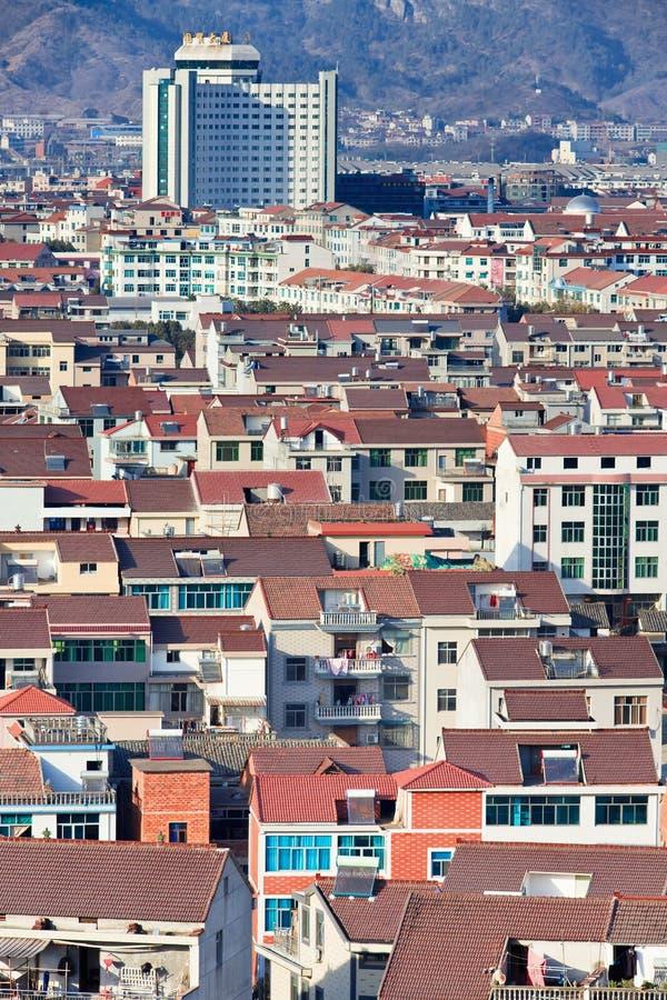 Взгляд на городе Hengdian, Китае стоковые изображения rf
