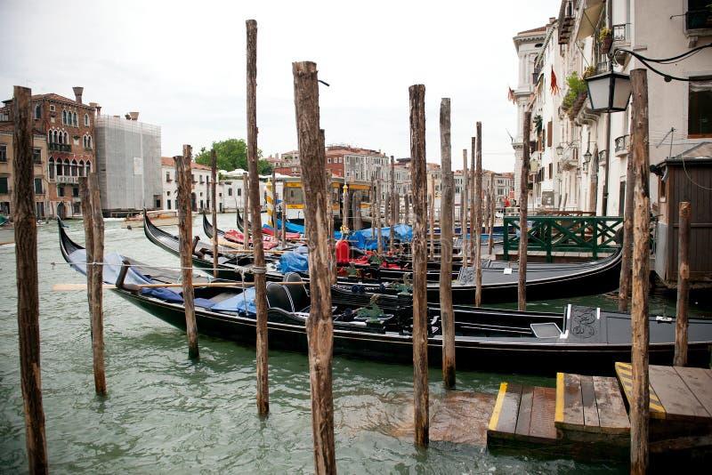Взгляд на грандиозном канале в Венеции стоковое фото rf