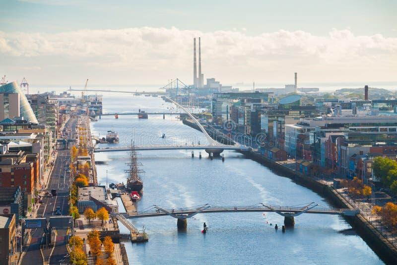 Взгляд над Дублином стоковое фото