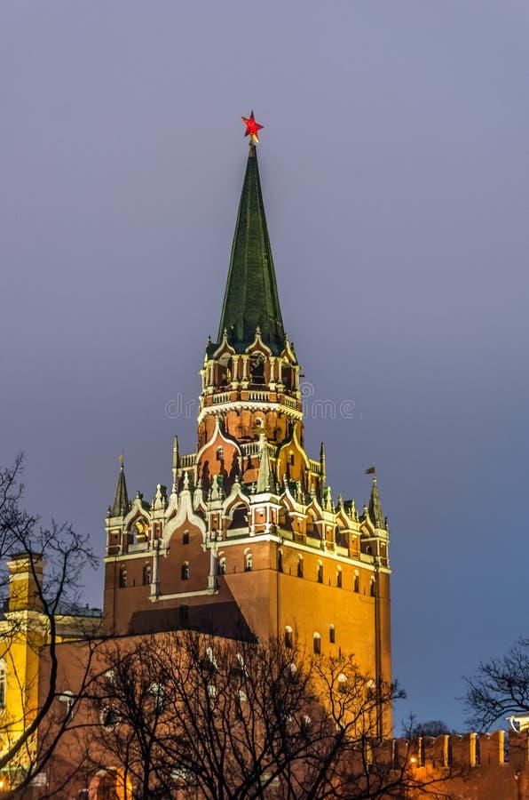 Взгляд на замке Кремля в Москве стоковое изображение