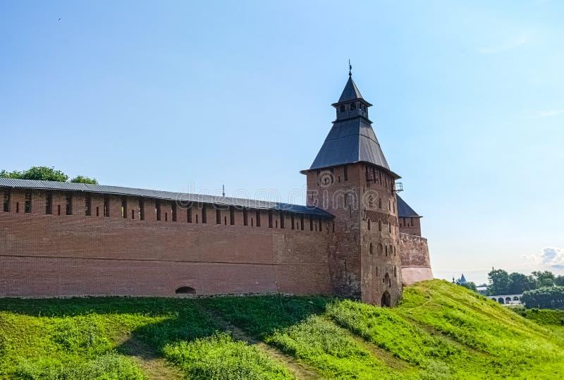 Взгляд на Кремле в Veliky Новгороде стоковое изображение rf