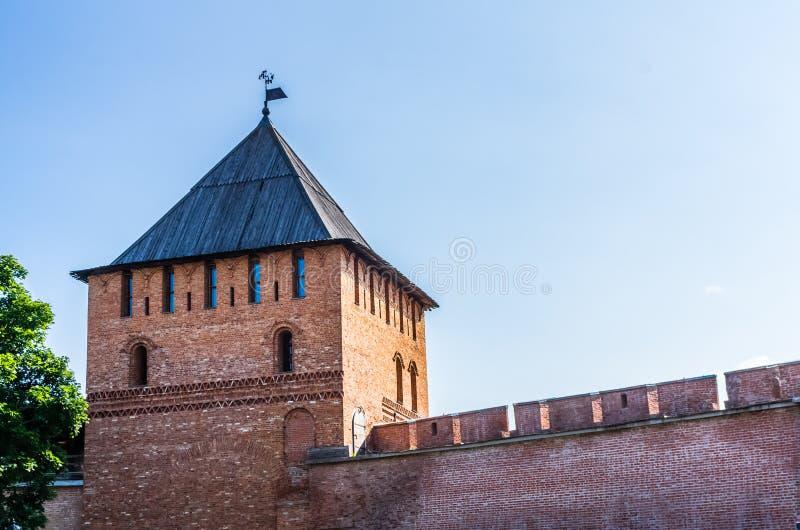 Взгляд на Кремле в Veliky Новгороде стоковая фотография