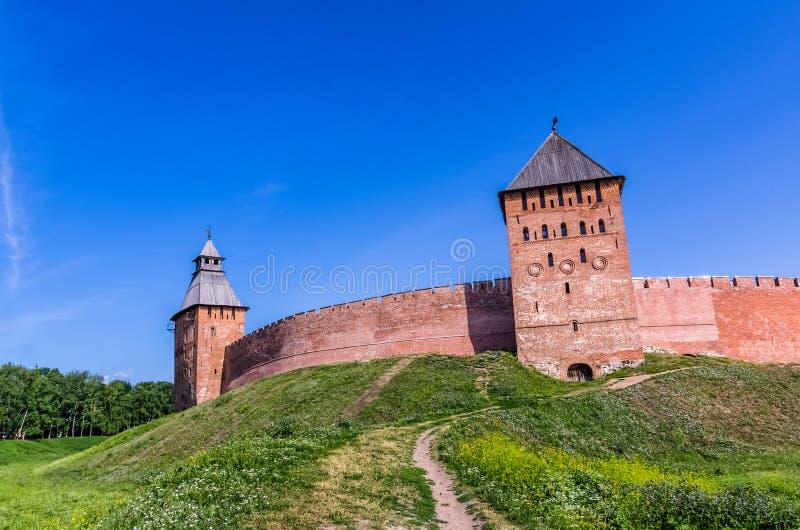 Взгляд на Кремле в Veliky Новгороде стоковая фотография rf