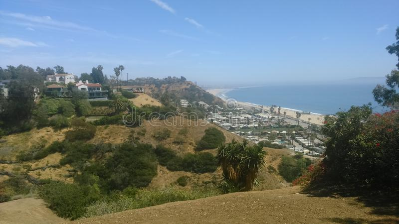 Взгляд над Лос-Анджелесом стоковые изображения rf