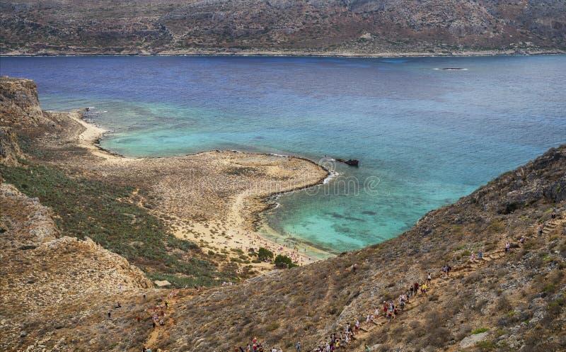 Взгляд над морем от крепости Gramvousa, Крита стоковые фото