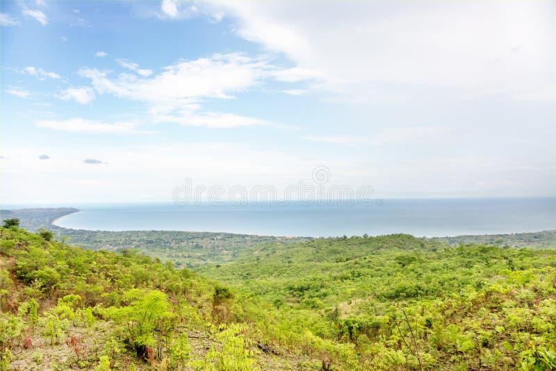 Взгляд над озером Малави стоковое изображение rf