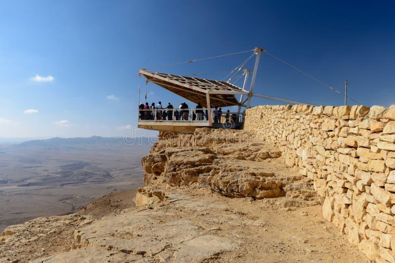 Взгляд на пустыне Negev в Mizpe-Рэймоне, Израиле стоковое фото rf