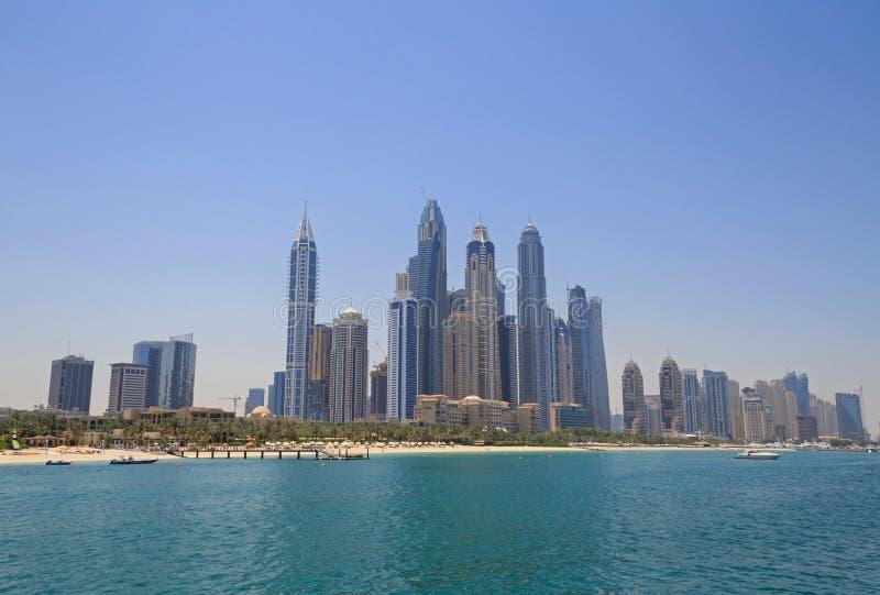 Взгляд на пляже в Дубай стоковые фотографии rf