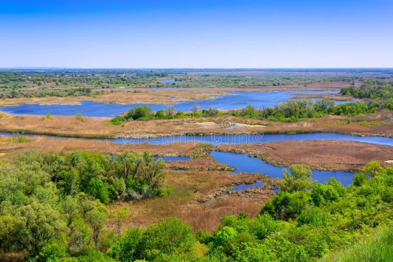 Взгляд на реке перепада стоковое изображение rf