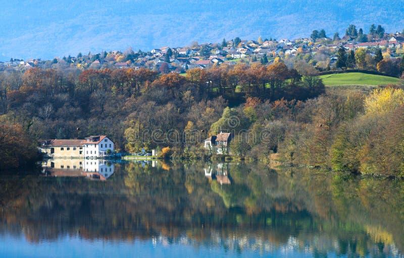 Взгляд на французском городке стоковая фотография rf