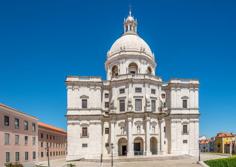 Взгляд на церков Санты Engracia - национального пантеона Португалии в Лиссабоне стоковое фото