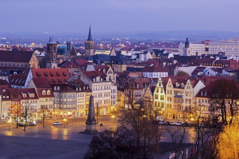 Взгляд на Эрфурте в Германии стоковые изображения