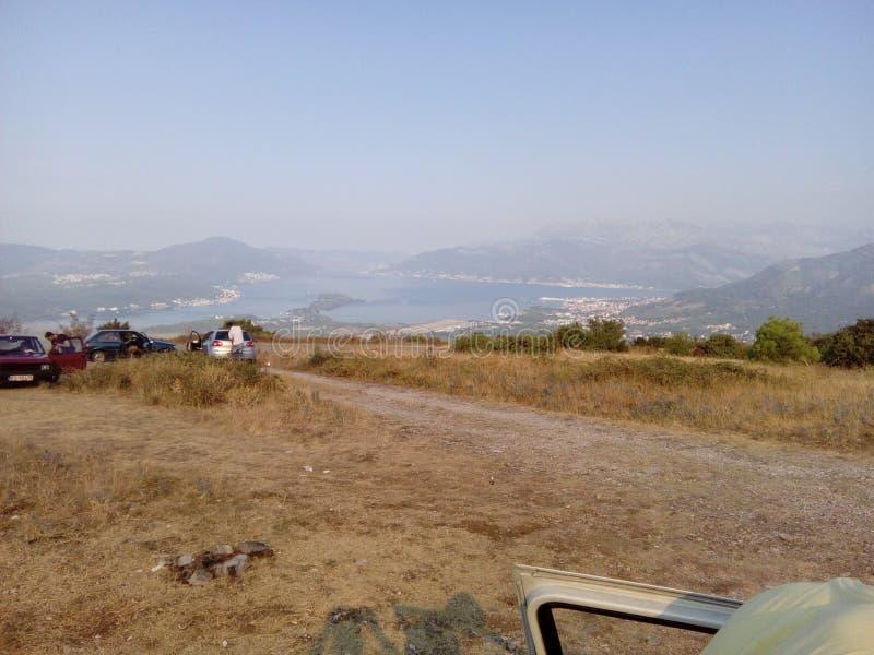 Взгляд на kotorska Boka стоковое фото