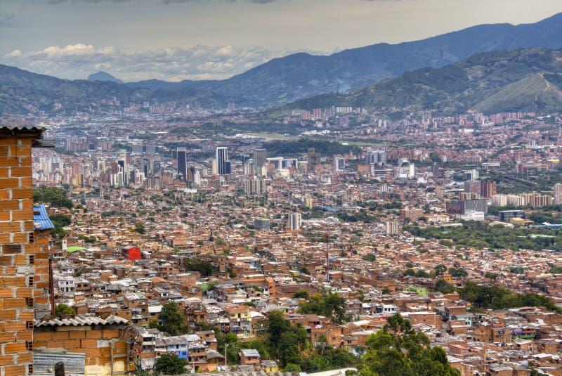 Взгляд над Medellin стоковые изображения rf