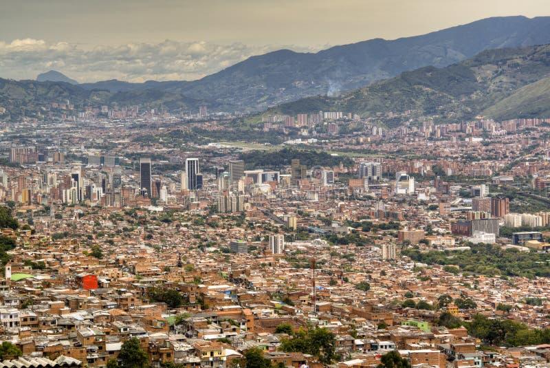 Взгляд над Medellin стоковая фотография