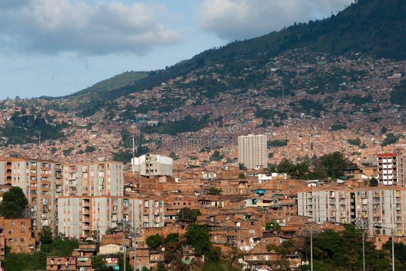 Взгляд над Medellin стоковые изображения