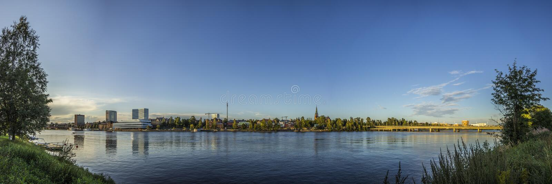 Взгляд над UmeÃ¥, Швецией стоковые фотографии rf