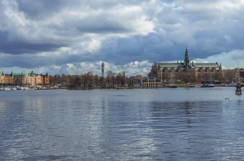 Взгляд нордического музея в Стокгольме Фото принятое 30-ого марта 2016 в Стокгольм, Швецию стоковые изображения rf