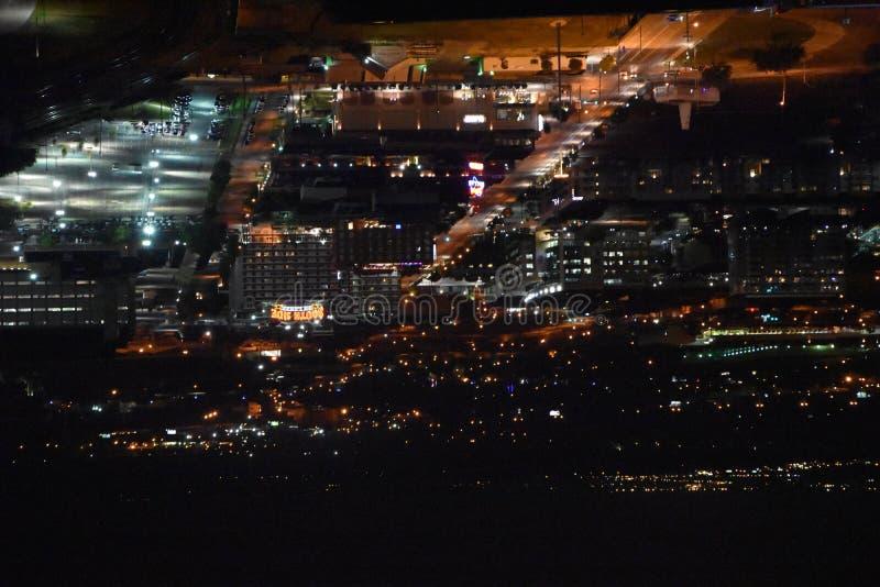 Взгляд ночи Далласа, Техаса стоковое изображение rf