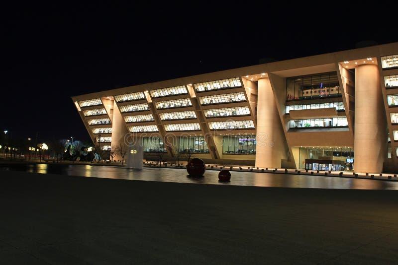 Взгляд ночи здание муниципалитета в городском Далласе стоковое фото rf
