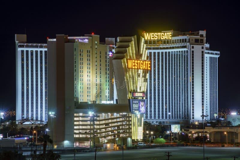 Взгляд ночи казино Westgate стоковая фотография