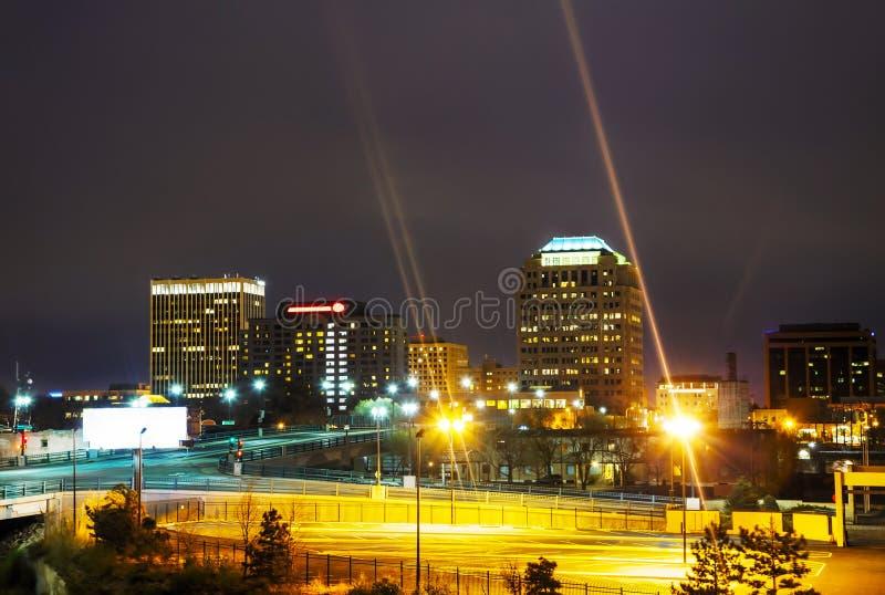 Взгляд ночи Колорадо-Спрингс городской стоковые фото