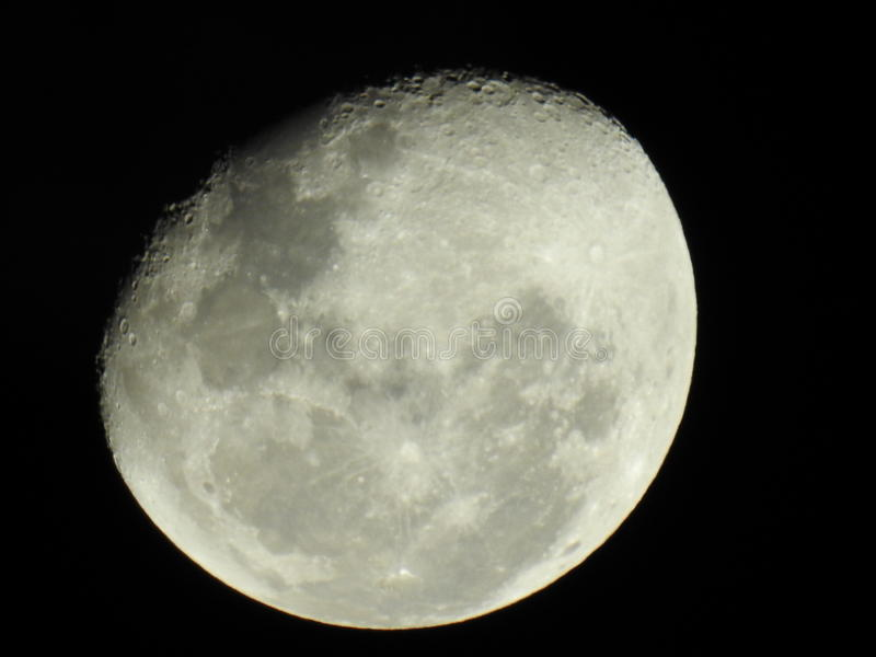 Взгляд ночи луны детали большой стоковое фото rf