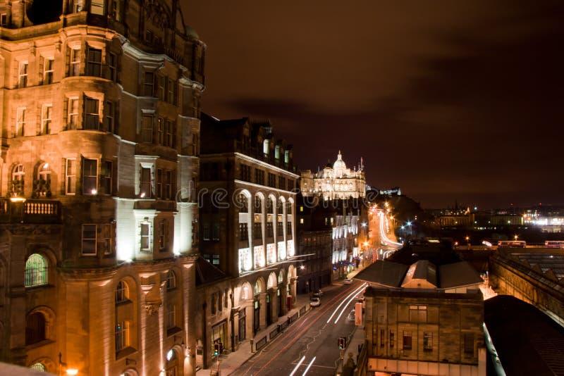 Взгляд ночи Эдинбурга стоковые фотографии rf